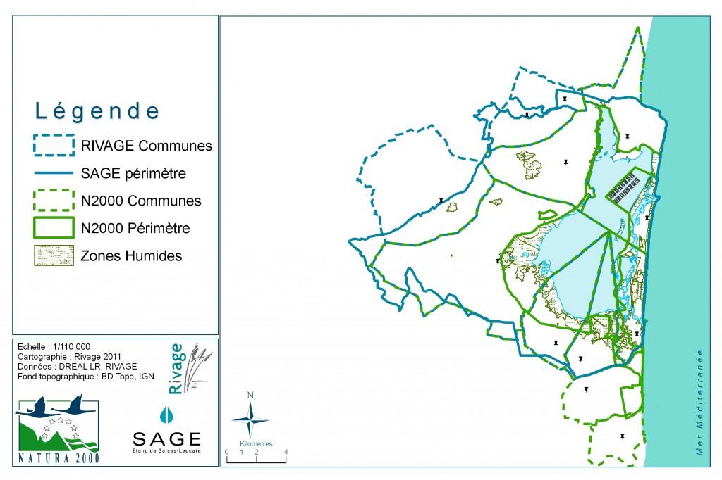 Périmètre de SAGE et Natura 2000